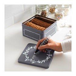 IKEA - VINTER 2016, Plechovka s vrchnákom, Vhodné na koláčiky, sušienky a iné suché potraviny.