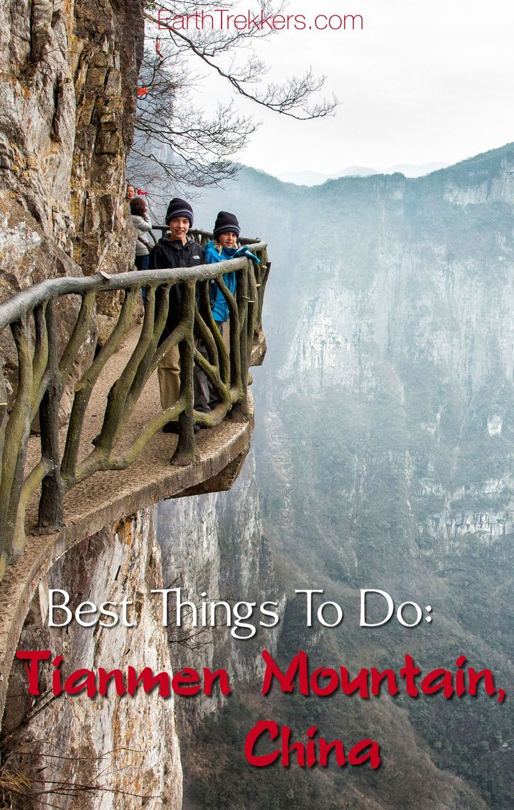 Tianmen Mountain: best things to do on a visit here. Ride one of the world's longest cable cars, walk on narrow pathways clinging to the vertical cliffs, ride on China's most dangerous road.