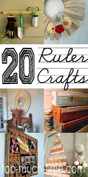 20 Crafts Projects And Ideas For Old Rulers Amazing Pictures