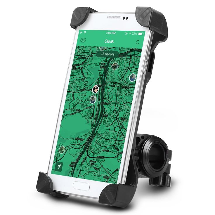 Universal Adjustable Bicycle MTB Motorcycle Holder Bike Motor Mount for Iphones Samsung Xiaomi Huawei Mobile Phones GPS 3.5-7""