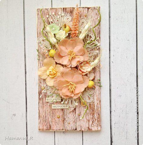 Кантри открытка + МК по деревянному фону