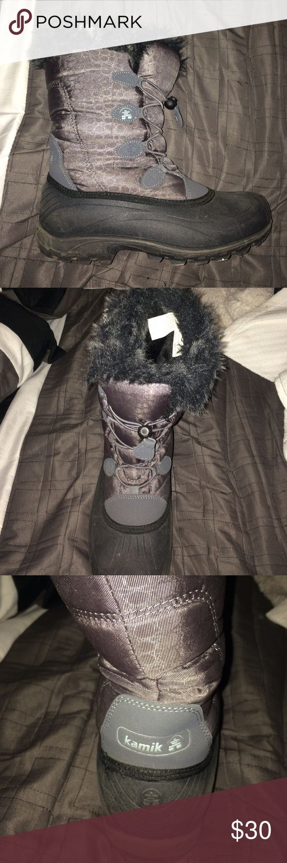 Kamik winter boots size 8 (pre-owned) In good conditions Kamik winter boots size 8 for women Kamik Shoes Winter & Rain Boots