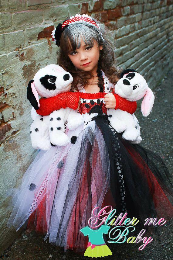 halloween costumes 101 dalmations cruella deville costume cruella deville tutu by glittermebaby 6500 - Cruella Deville Halloween Costume Ideas