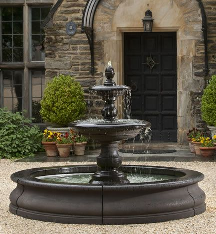 Caterina Fountain in Basin by Campania International | Water Fountains