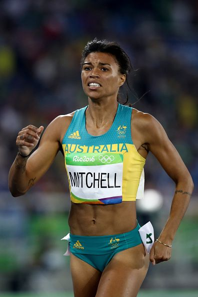 Morgan Mitchell of Australia competes in the Women's 400 metres semifinals on…