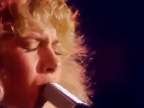 """Oh Sara...you're the poet in my heart""  Live from the Bella Donna tour 1982  #StevieNicks #BellaDonna #FleetwoodMac #Sara #Tusk #gif #steviegifs"