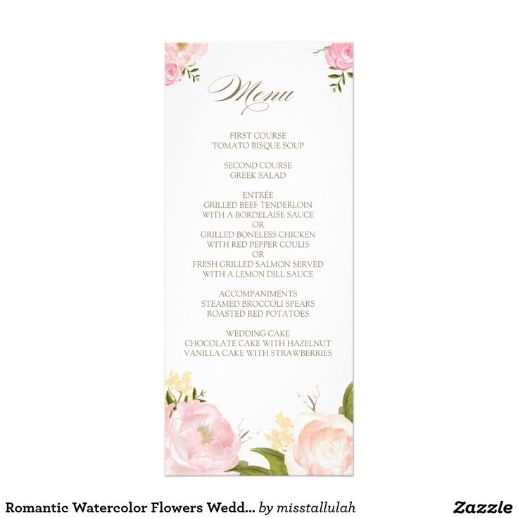 25 best Wedding Menus - Custom Designs To Match Your Style images - fresh wedding invitation card create