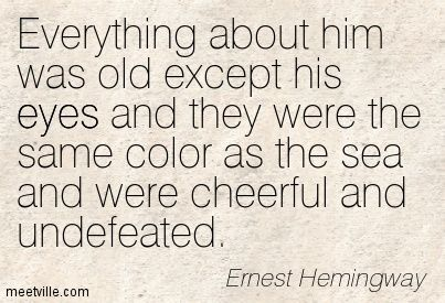 literary analysis old man and sea ernest hemingway s The old man and the sea by ernest hemingway: book review  in fact, in 1954, when the nobel prize in literature was awarded to hemingway, the citation picked out the book for special mention.