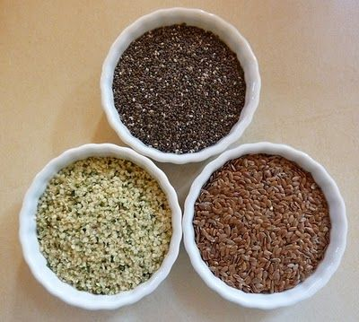Omega 3 Power Seeds: Chia, Hemp And Flax - What They Can And Cannot Do For Vegans. Omega 6 Rich Foods That Can Interfere With The Body's Ability To Make EPA & DHA If Eaten In Excess.