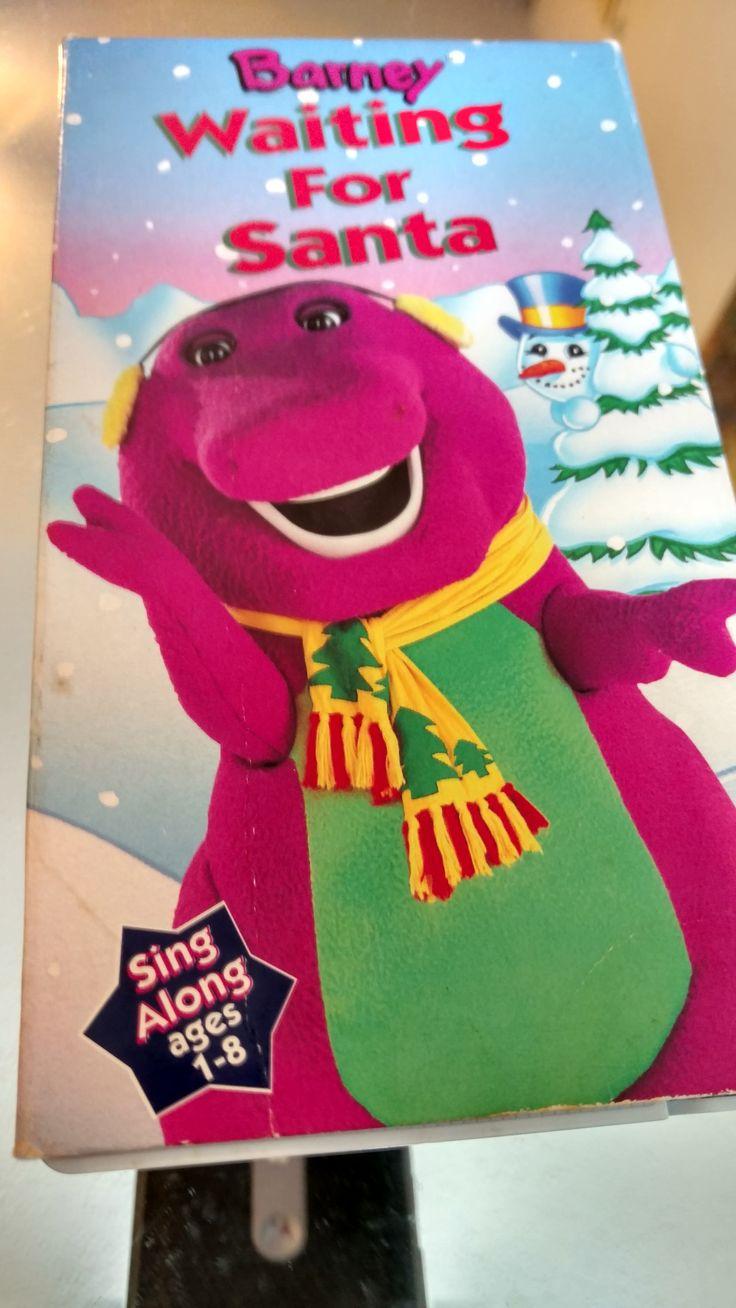 "Barney The Dinosaur's ""Waiting For Santa"" Movie VHS Tape by RetroVintageRemix on Etsy"