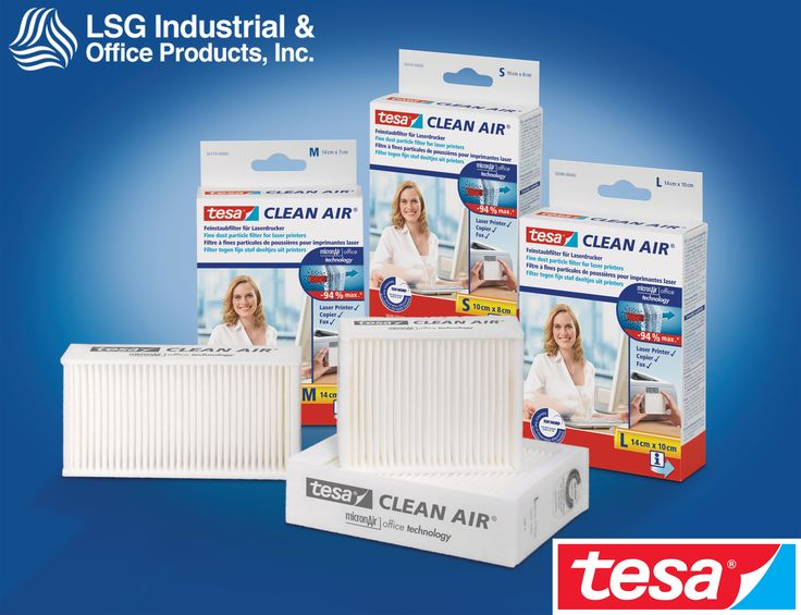 The Tesa Clean Air fine dust filter for laser printers, fax machines and photocopiers ensures clean air in the office. Order now at LSG!!! #tesa #tesacleanair #lsgindustrial #officesolutions