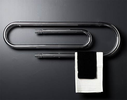 This could be really fun for a one of the kids' bathrooms.  Towel warmer Paper Clip Shaped Heaters by Scirocco