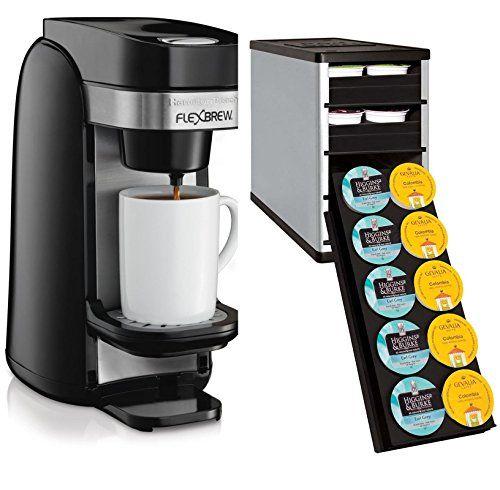 Hamilton Beach 49997 Flexbrew Single Serve Coffee Maker w/ 40 K Cup Organizer