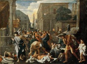 The Plague at Ashdod - Nicolas Poussin.  c.1630.  Oil on canvas.  148 x 198 cm.  Musee du Louvre, Paris, France.