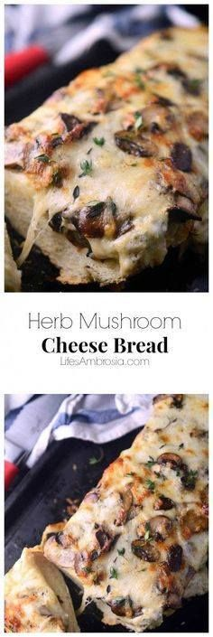 An ooey-gooey Herb M An ooey-gooey Herb Mushroom Cheese Bread...  An ooey-gooey Herb M An ooey-gooey Herb Mushroom Cheese Bread made with two different kinds of cheese sautéed mushrooms and fresh thyme. Perfect for game day or girls night! Recipe : http://ift.tt/1hGiZgA And @ItsNutella  http://ift.tt/2v8iUYW