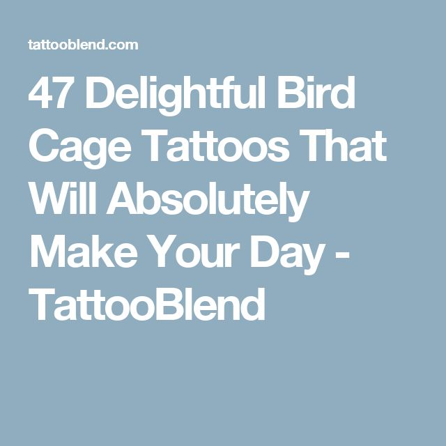 47 Delightful Bird Cage Tattoos That Will Absolutely Make Your Day - TattooBlend