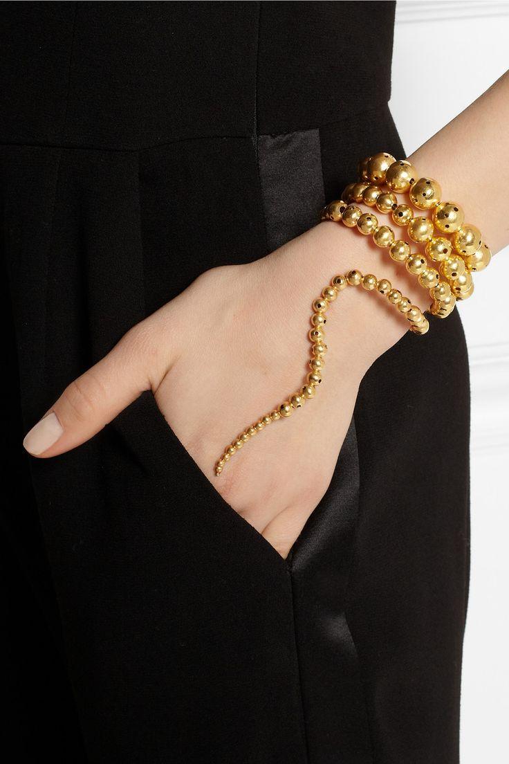 Paula Mendoza|Nereus gold-plated bracelet|NET-A-PORTER.COM