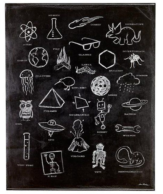 ABC & Alphabet art prints: ABC Ologies Wall Decal by Aaron Christensen