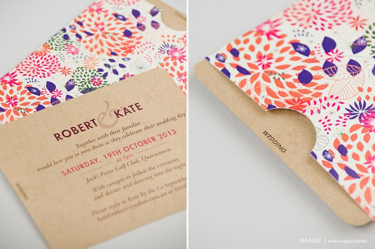 Seven Swans Collection | patterned paper sleeve with kraft paper inserts