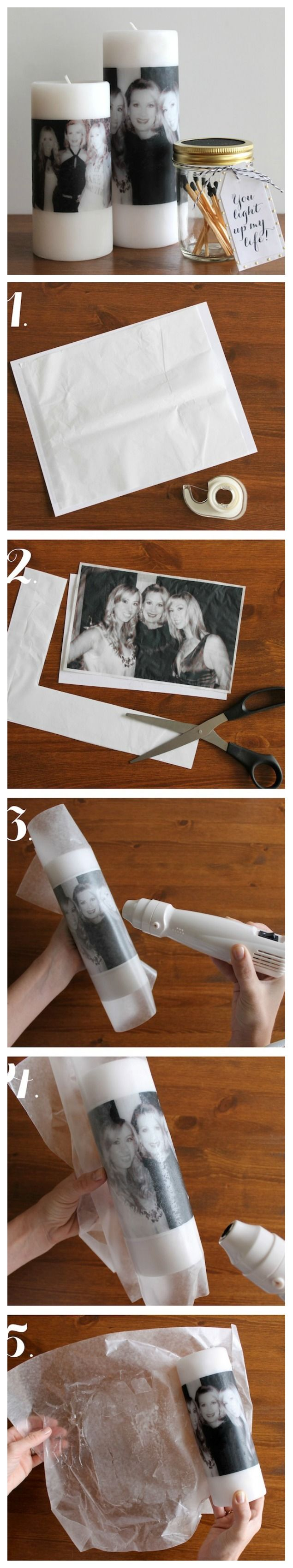 Mother's Day: DIY Photo Candle