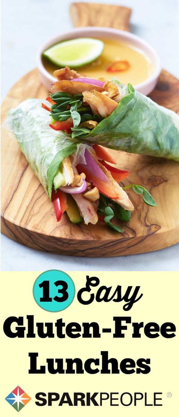 Easy Gluten-Free Lunch Recipes. Try these lunches next time you're looking for something different, delicious and healthy. | via @SparkPeople