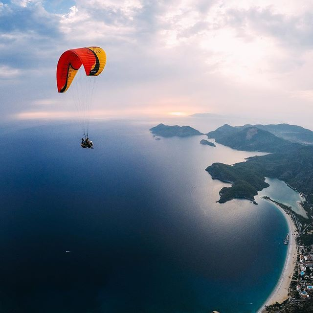 Photo of the Day: @buraktuzer shows us why he calls Ölüdeniz his home.  Who would you share a flight with here? • • • @GoProME #GoProME #HERO5 #Paragliding #Turkey
