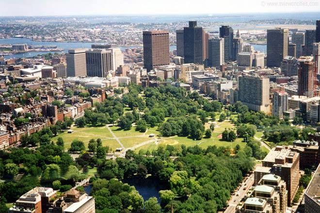 El Boston Common es el parque público más antiguo de los Estados Unidos.