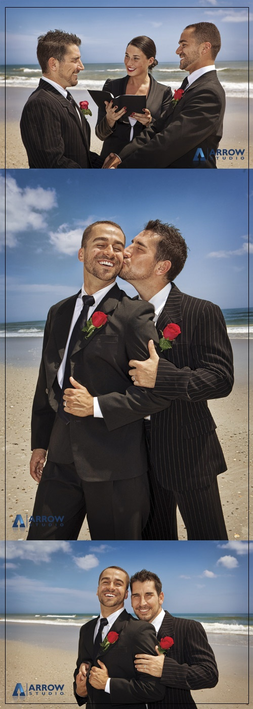 What a cute couple. MD has gay marriage on referendum this November. Talk about creating jobs and stimulating the economy -- think of all the fabulous gay weddings. *g*