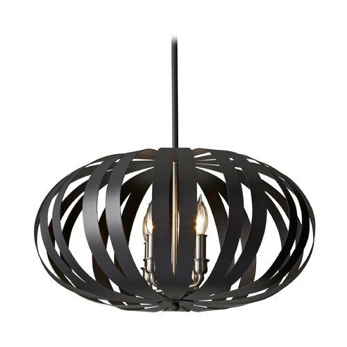Feiss Lighting Pendant Light In Textured Black Finish F2738/4TXB