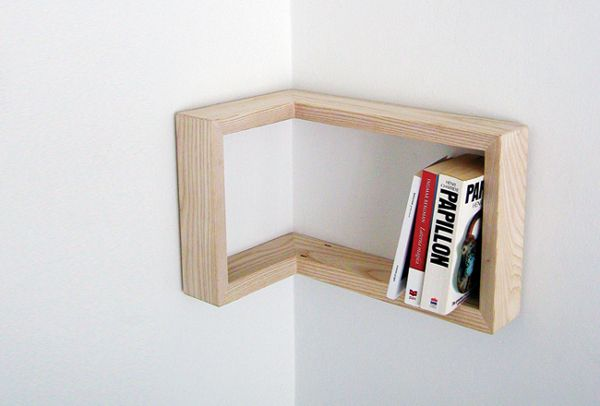 Kulma Corner Shelf by Martina Carpelan: Suitable for either a positive or negative corner via cubeme #Shelf #Martina_Carpelan