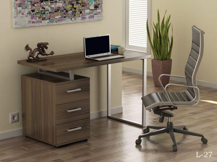 Стол L-27, письменный стол с металлическим каркасом, для ноутбука недорого, заказать в интернет магазине, цены и фото