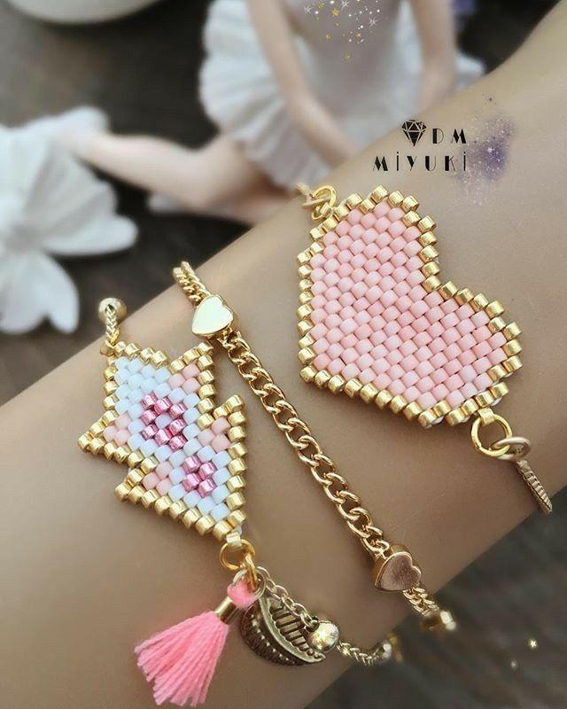 b7d5589e9a3c Pin de 凌 君 en Accessory crafting   Beaded Jewelry, Brick stitch ...