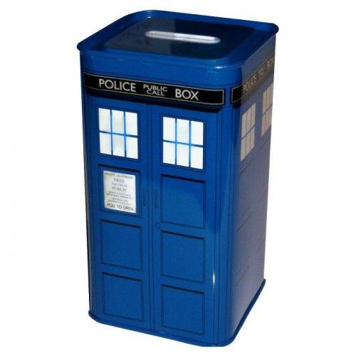 Doctor Who Tardis Money Box on Yellow Octopus #giftsforkids #gifts #doctorwhotardis #money #box