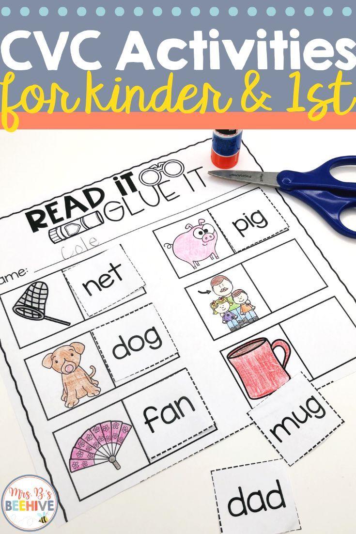 Use These Cvc Worksheets And Activities To Strengthen Your Kindergarten Students Blending And Read Cvc Words Kindergarten Resources Preschool Alphabet Letters [ 1102 x 735 Pixel ]