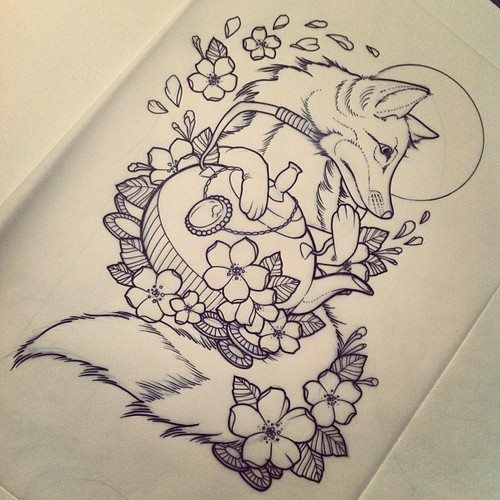 Really digging this. I think it would be a neat tattoo idea with a dahlia instead of the kettle