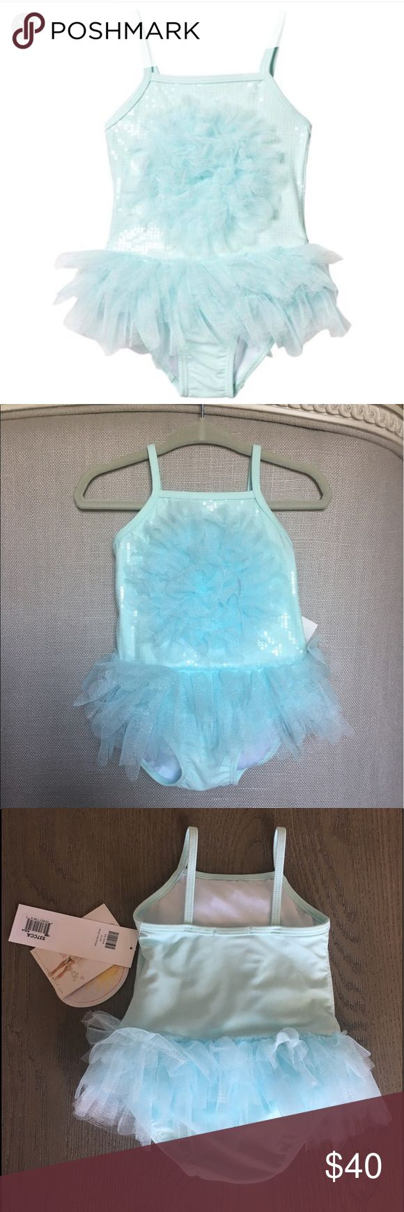 Kate Mack Biscotti Swimsuit Sequin and tulle tutu swimsuit. UPF 30+. Size is 18 months but fits more like 12 months. Brand new with tags! Perfect condition. Kate Mack Swim One Piece