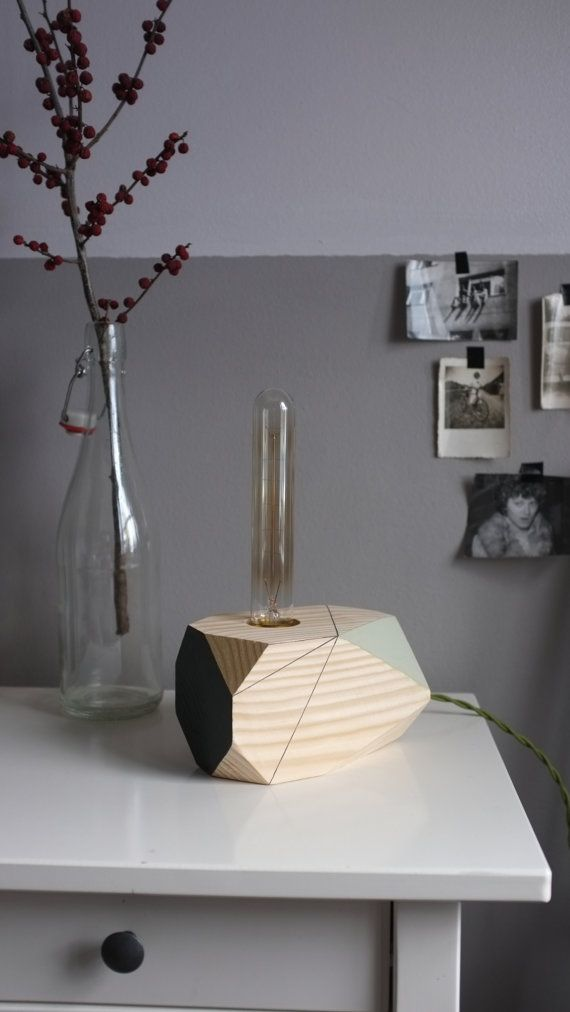 Cassiopeia  geometric wooden table lamp by Polymorphics on Etsy