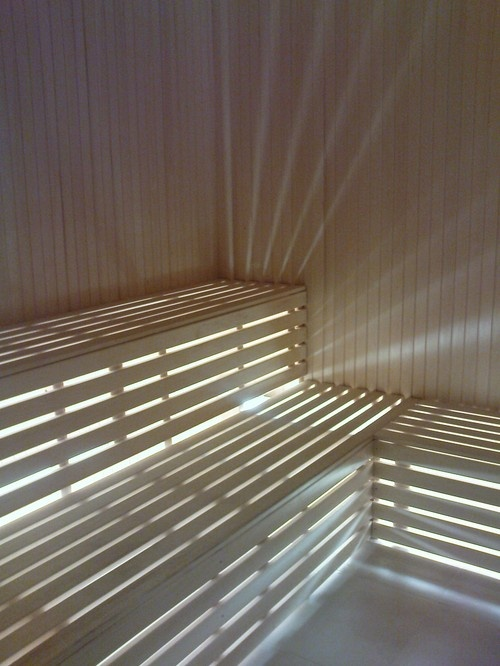 Clever sauna lighting.