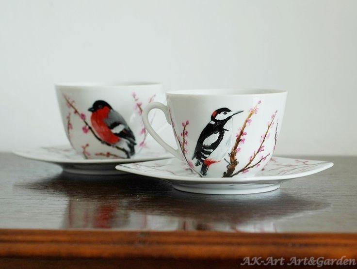 Ręcznie malowane filiżanki / Hand painted cups