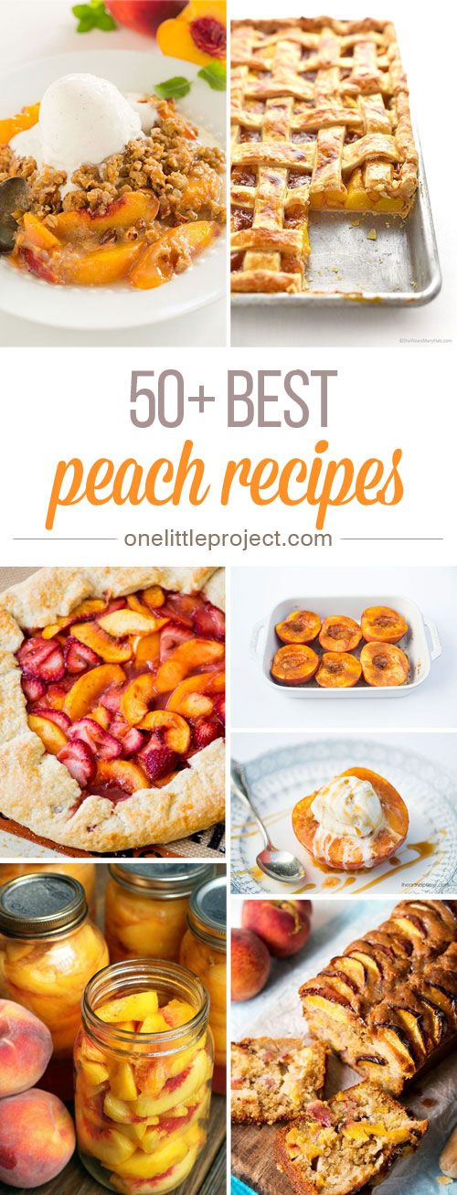 This list has the BEST peach recipes! There are so many different things to try and they all look AMAZING! I have no idea where to even start! So good!