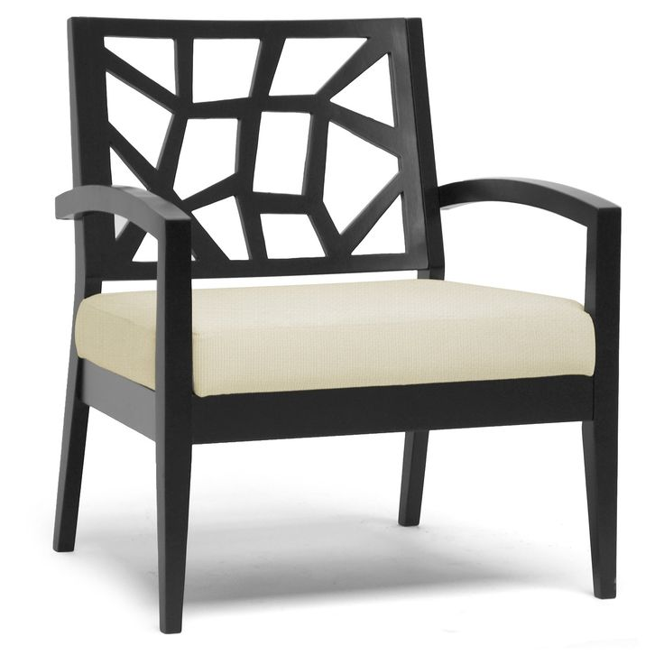 Baxton Studio Jennifer Lounge Chair - Black   from hayneedle.com