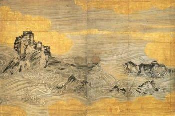 長谷川等伯「波濤図」  京都・禅林寺蔵