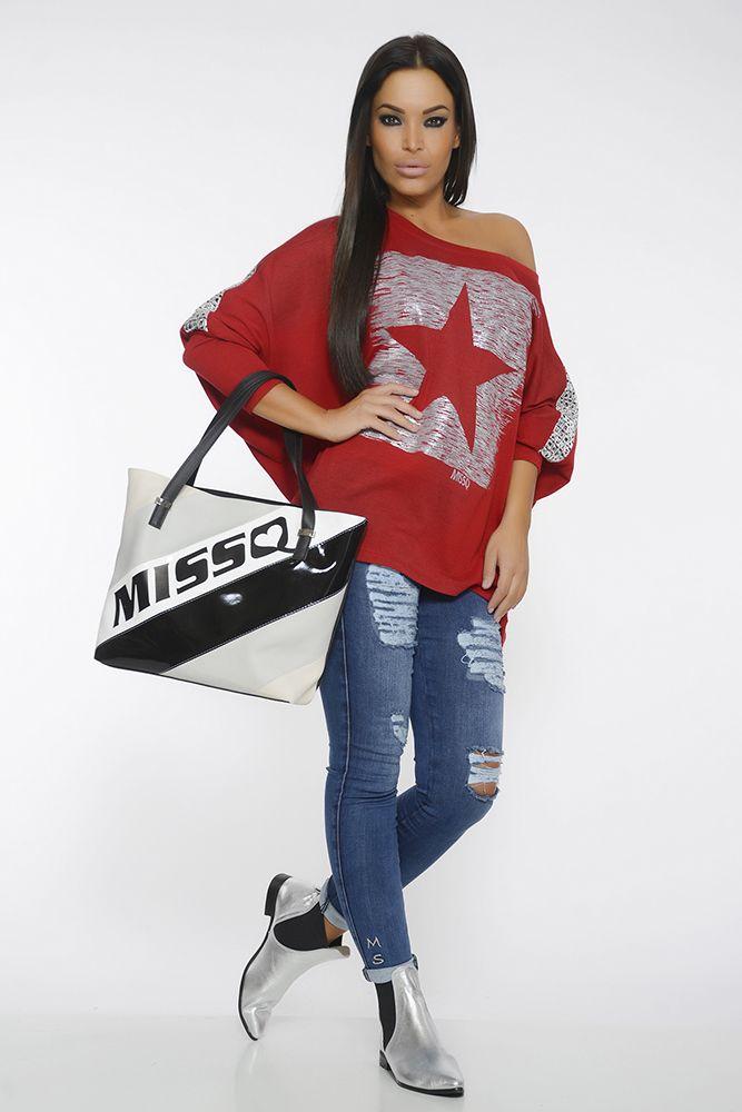 Bluza MissQ Glorify Burgundy. Bluza casual, cu croi larg perfecta pentru a fi combinata cu o pereche de jeansi sau o pereche de colanti. Alege un stil casual, in fiecare zi!