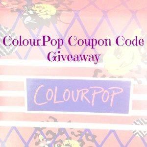 ColourPop Coupon Code Giveaway