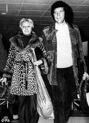 Happy couple: Tom Jones is rarely pictured out with his wife Linda as she prefers to stay out of the limelight