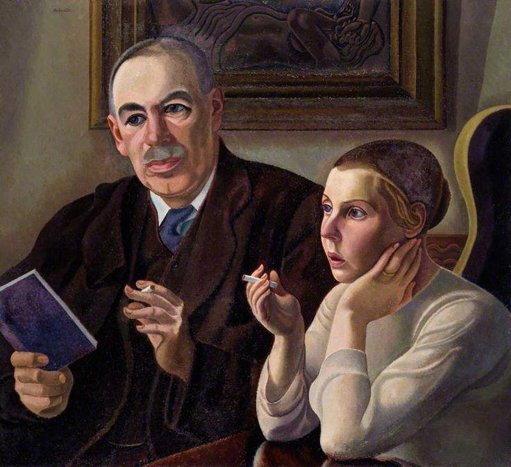"William Patrick Roberts (1895-1980)  ""John Maynard Keynes, Baron Keynes; Lydia Lopokova"", exhibited  1932"