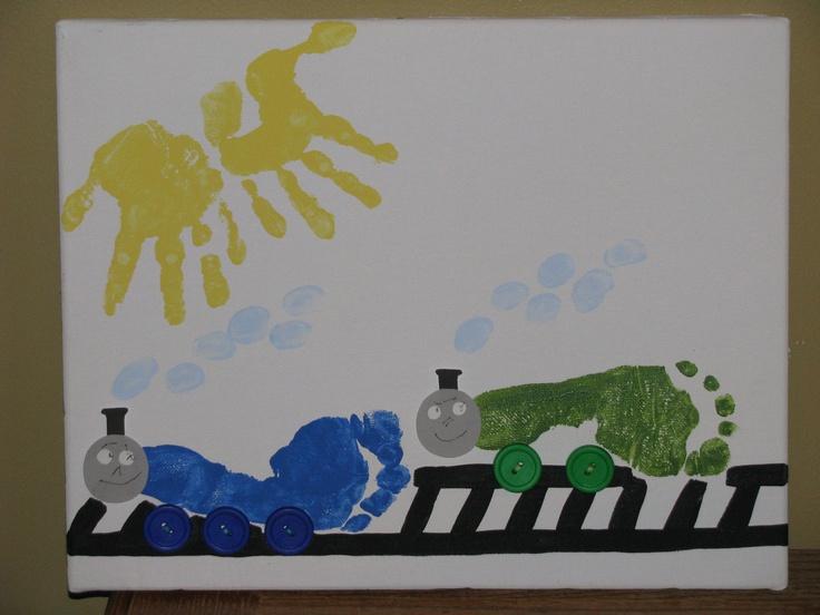 """Thomas"" & ""Percy"" Foot Prints"