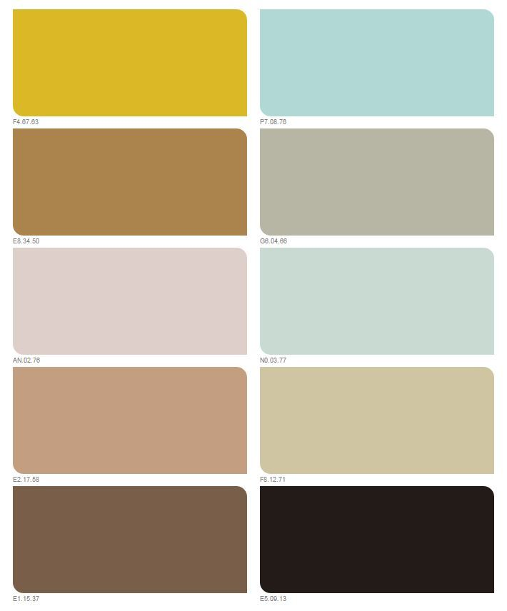 Kleurpallet Okergoud