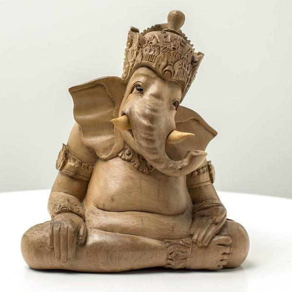 Kind Ganesha - Handcrafted wood sculpture from Bali. Spiritual decoration for unique places... #art #bali #balinese #handcrafted #decoration #decorativeart #dekor #elyapımı #woodart #zanaat #ganesha