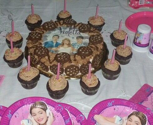 Cake and muffin violetta party! #sisterbday #mycreations